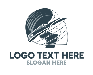Cricket - Blue Cricket Helmet logo design