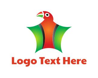 Parrot - Parrot Star logo design
