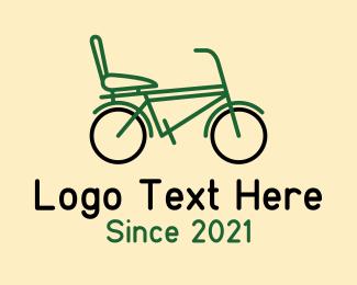 Sports - City Bike Outline logo design