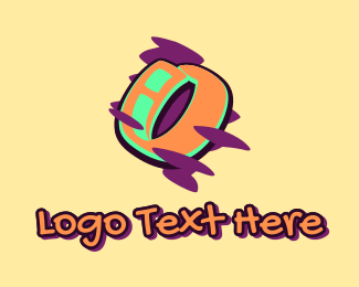 Arts - Graffiti Art Letter O logo design