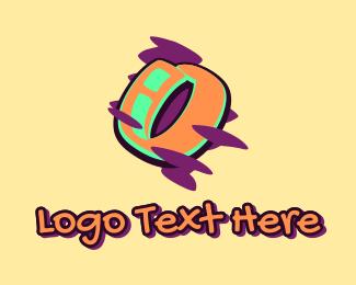 Youth - Graffiti Art Letter O logo design