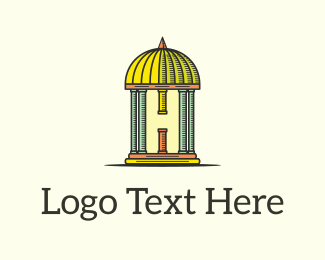 Column - Dome Letter H  logo design