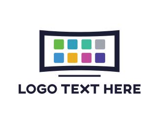 Cellphone - Television App logo design