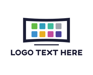 Mobile Phone - Television App logo design