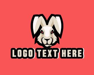 Sports - Wild Hare Rabbit Mascot logo design