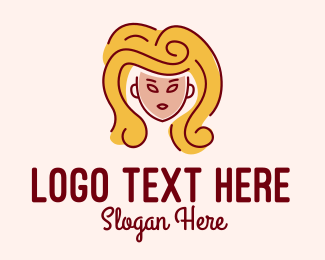 Big - Big Hair Lady Salon  logo design