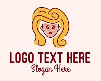 Blonde - Big Hair Lady Salon logo design
