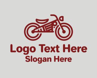 Biker - Red Steampunk Motorcycle logo design
