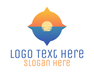 Pacific - Ocean Compass logo design