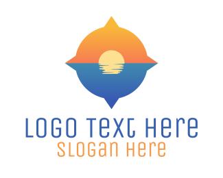 Navigate - Ocean Compass logo design