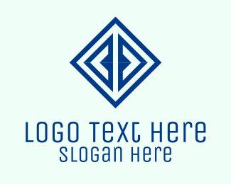 Creative - Creative Blue Diamond  logo design