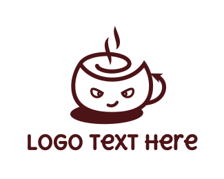Devil - Devil Cafe logo design