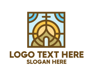 Worship - Colorful Mosaic Christian Church logo design
