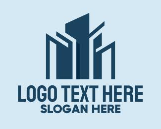 Builder - Blue City Builder logo design