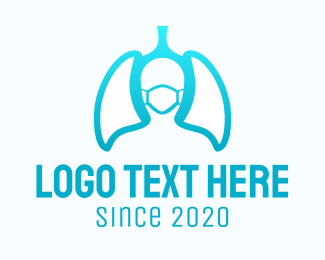 Surgical Mask - Face Mask Lungs logo design