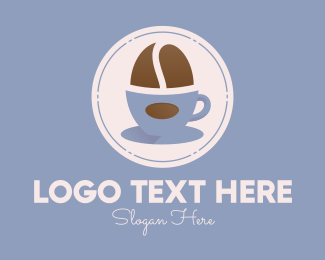 Cappucino - Coffee Bean Cup logo design