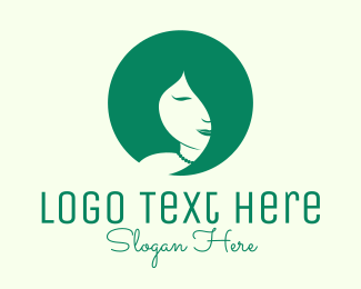 Beauty Spa - Green Feminine Hair Salon logo design