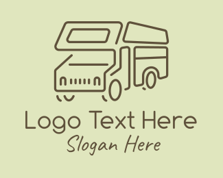 Road Trip - Minimal Campervan logo design