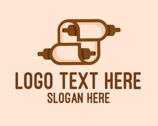 Newspaper - Papyrus Scroll logo design