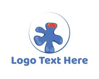 Frankenstein - Liquid Monster logo design