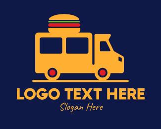 On The Go - Burger Delivery Van logo design