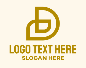 Business - Gold Letter D Company  logo design