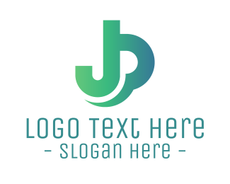 Jp - J & P logo design