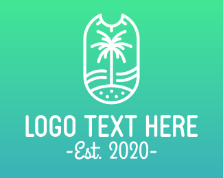 Modern Palm Tree Outline Logo Maker