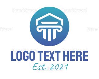 Accountant - Blue Pillar Temple logo design