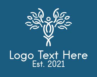Health Care Worker - White Staff Of Hermes logo design