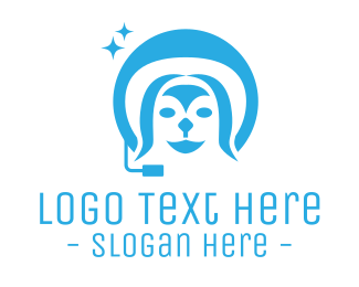 Customer Service - Telecommute Dog logo design