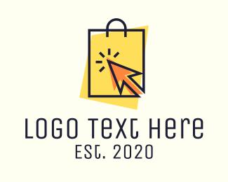 Shopify - Online Shopping Bag logo design