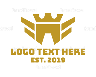 Airline - Geometric Bird Crown logo design