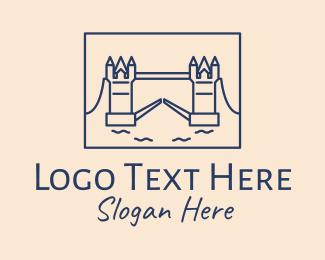 English - Tower Bridge  logo design