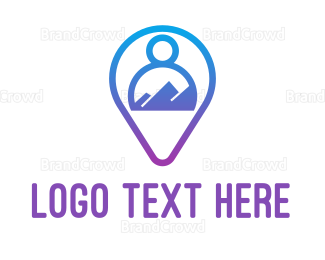 Text Message - Blue Person App logo design