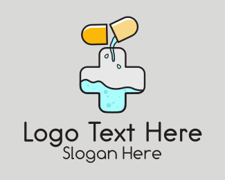 Antibiotic - Capsule Pharmacy Medical  logo design