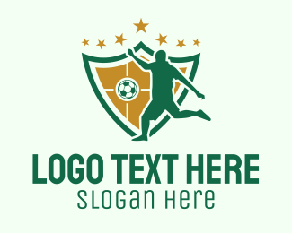 Professional Athlete - Soccer Team Player  logo design