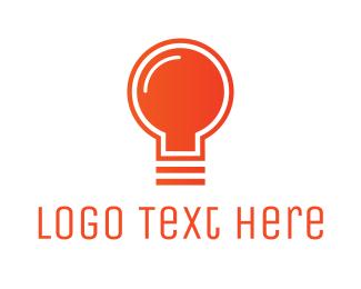 New - Orange Light Bulb logo design