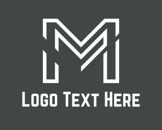 Letter M - White Letter M  logo design