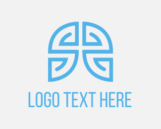 Blue Maze Game Logo