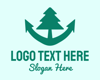 Oceanic - Anchor Tree logo design