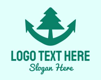 Oceanic - Anchor Tree logo design