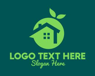 Home Insurance - Fresh Green Home logo design