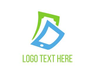Cash - Phone & Cash logo design