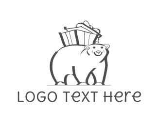 Present - Bear Gift logo design