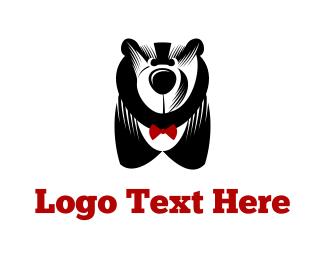 Bowtie - Big Bear & Bowtie logo design