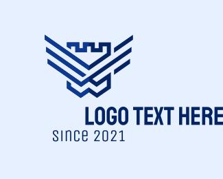Fort - Fort Shield Wings logo design