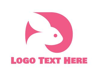 Veterinary - Pink Rabbit  logo design
