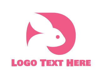 Pet Care - Pink Rabbit  logo design