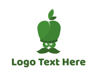 Green Apple - Apple Chef logo design